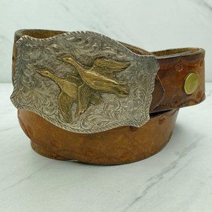 Diablo Sterling Silver Duck Buckle Vintage Belt